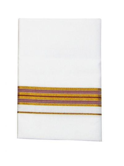 KKV Cotton Shirt and Fancy Border Dhoti Set - NJD1559079