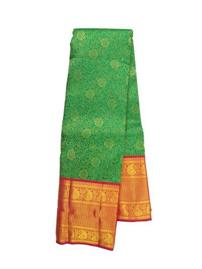 Vivaha Green Wedding Pure Kanchipuram Silk Saree - OFC9238101