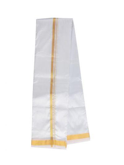 Vivaha Traditional Silk Mix Dhoti Shirt Material and Angavastram Set - NDC1340270