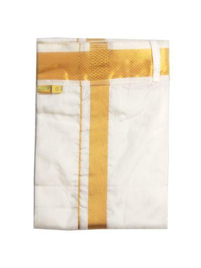 Vivaha Fancy Border Silk Velcro Dhoti - ODA2060219