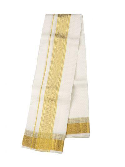 Vivaha Traditional Pure Silk Dhoti Shirt Material and Angavastram Set - OEA4606928