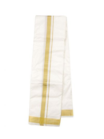 Vivaha Traditional Pure Silk Dhoti Shirt Material and Angavastram Set - OEC5153460