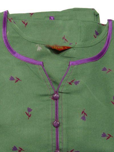 NGA7221327 - Semi Cotton Printed Nightwear