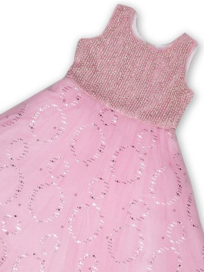 NDB0882286 - Girls Fancy Netted Frock