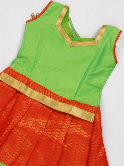 NCC0245632 - Girls Ready Made Art Silk Pavadai Set