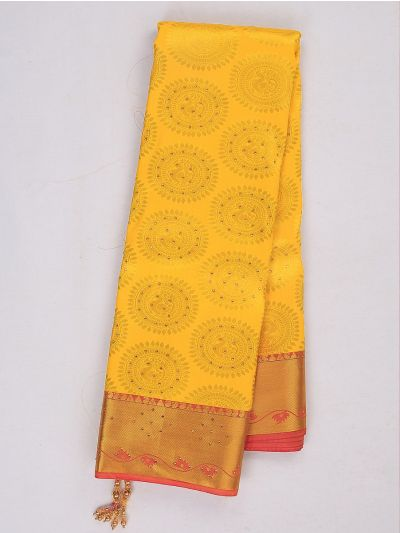 Bairavi Gift Art Silk Stone Work Saree - MIB3567349