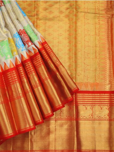 Vivaha Exclusive Handloom Pure Kanchipuram Silk Saree - LDB4654000