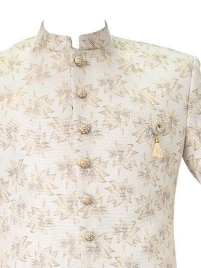 MCA8408820 - Exclusive Silk Jacquard Indo Western Suit