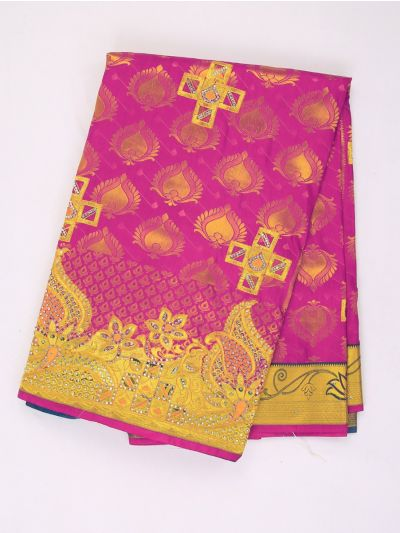 MHB1710259 - Banarasi Silk Stone Work Saree