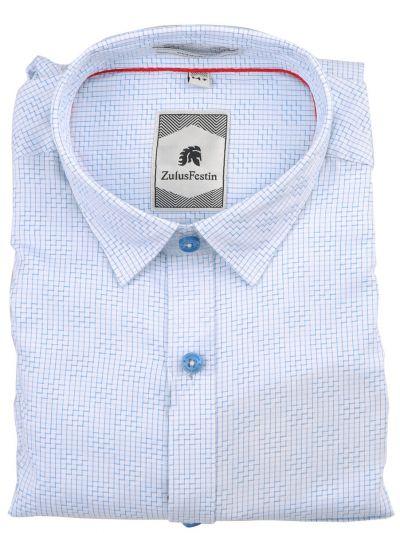 Zulus Festin Men's Formal Full Sleeve Checked Design Cotton Shirt - TUP-MEC7675688