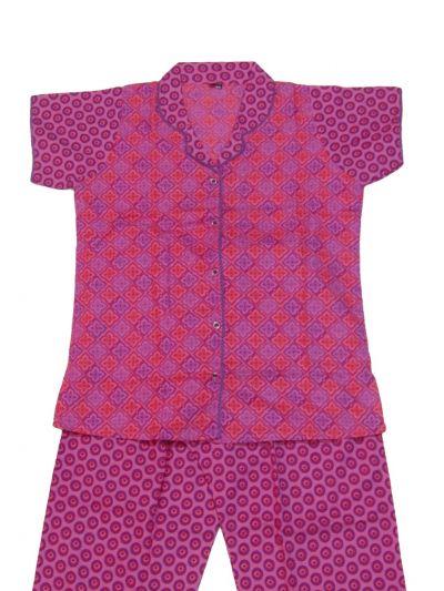 Women Cotton Nightwear/Night Suit - NKD4150975-EKM