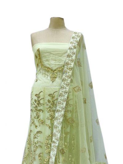 Semi-Stitched Lehenga & Blouse with Dupatta - NKA1920643-EKM