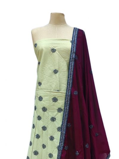Semi-Stitched Lehenga & Blouse with Dupatta - NJD1692578-EKM