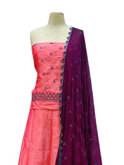 Semi-Stitched Lehenga & Blouse with Dupatta - NJD1692600-EKM