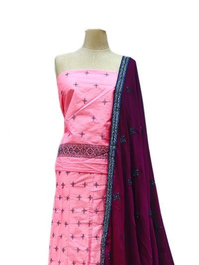 Semi-Stitched Lehenga & Blouse with Dupatta - NJD1692594-EKM