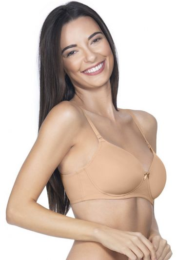 Womens Solid Paded Non Wired Bra - OEC5231030