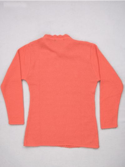 Girls Solid Woolen Sweater - MGA7734875