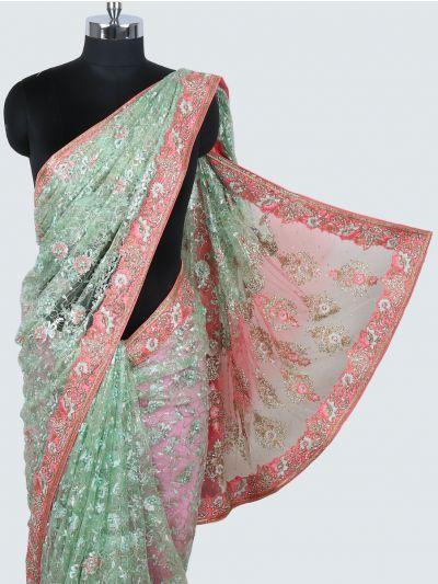 Kyathi Exclusive Heavy Moti Hand Work Designer Saree - MHD262005