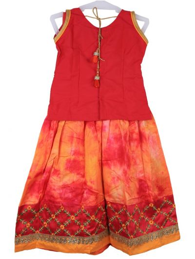 Girls Ready Made Art Silk Pavadai Set - MGC0548284