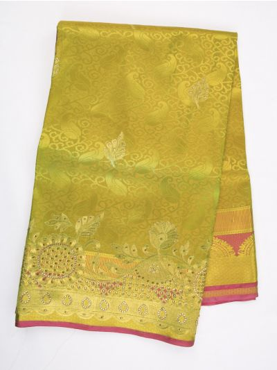 MAB1460901 - Traditional Stonework Silk Saree