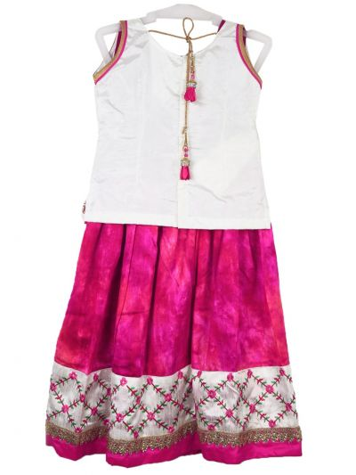Girls Ready Made Art Silk Pavadai Set - MGC0548278