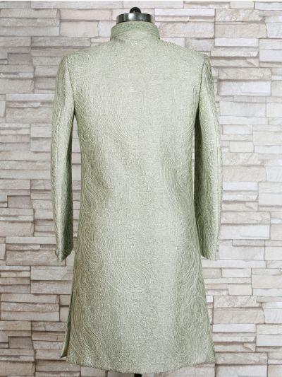 MFB1351290 - Exclusive Silk Jacquard Indo Western Suit