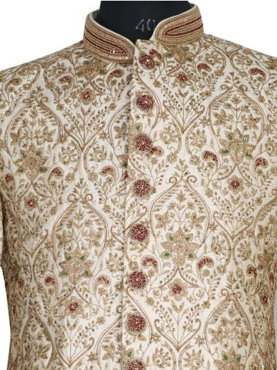 NJB0447296 - Exclusive Heavy Jacquard Indo Western Suit