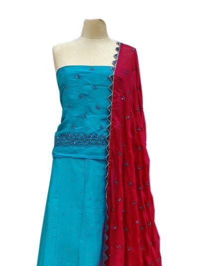 Semi-Stitched Lehenga & Blouse with Dupatta - NJD1692596-EKM
