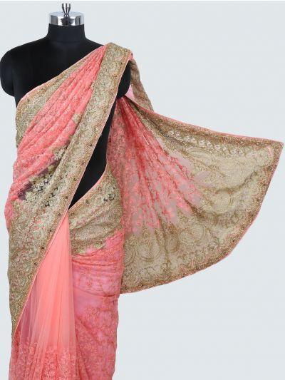 Kyathi Exclusive Thread Jaal & Zardosi Work Designer Saree - MIA2929013