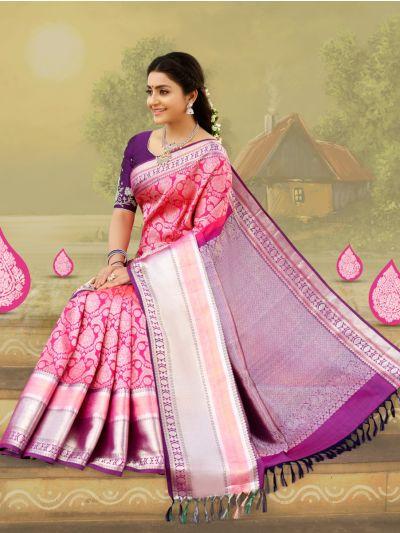 Vivaha Goddess Bridal Pure Kanchipuram Silk Saree
