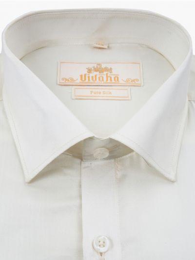 Vivaha Wedding Pure Silk Shirt - MCC9425759