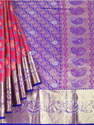 MEB6462506-Vivaha wedding Stone Work Silk Saree