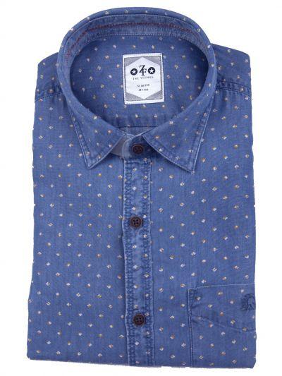 ZF Men's Casual Cotton Shirt  - MGA7773701