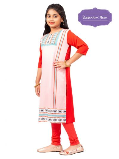 Sivasankari Babu Girls Crepe Readymade Top - MGC9941969