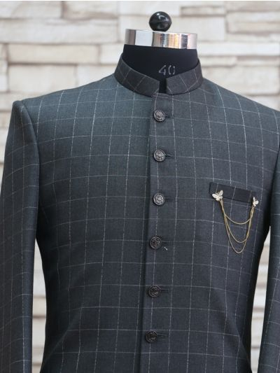 MFB2971131 - Exclusive Silk Jacquard Indo Western Suit