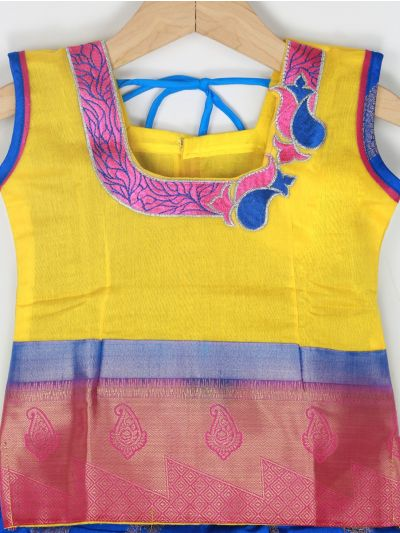 Girls Ready Made Art Silk Pavadai Set - GPP5020