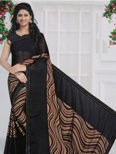 Yuvathi Synthetic Printed Saree - MIB3456115
