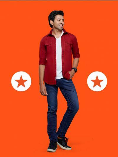 ZF Men's Readymade Casual Cotton Shirt - MGA8057012