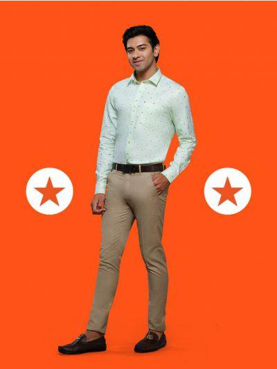 ZF Men's Readymade Party Wear Cotton Shirt - MGA8028478