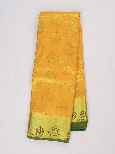 Bairavi Gift Art Silk Stone Work Saree - MIB3567364