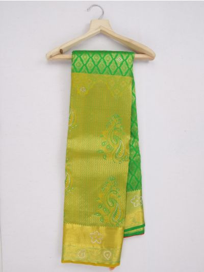MKC9619459-Vivaha Wedding Stonework Pure Silk Saree