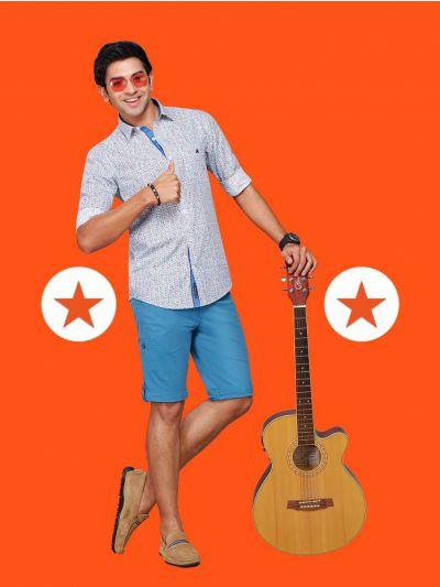 ZF Men's Readymade Formal Cotton Shirt - MGA8041874