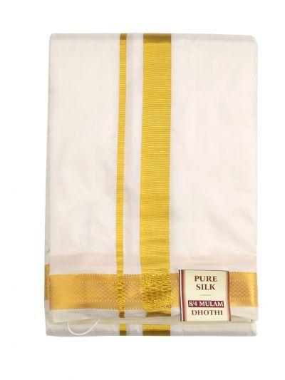 Vivaha Fancy Border Silk Dhoti and Angavastram - ODB2864985