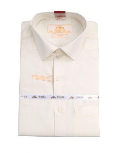 Vivaha Pure Fancy Border Silk Shirt & Dhothi Set - NFD5157141