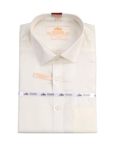 Vivaha Pure Fancy Border Silk Shirt & Dhothi Set - NHC4844619