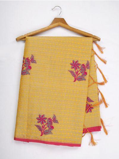 Kathana Fancy Tissue Slub Embroidered Saree - MJD8051095