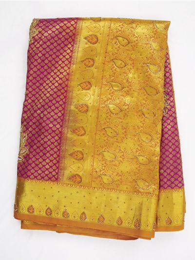 Vivaha Wedding Silk Saree With Stone Work Design - MIB3521361