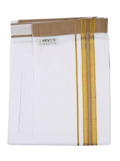 KKV Velcro Men Cotton Dhoti - NJA8913549