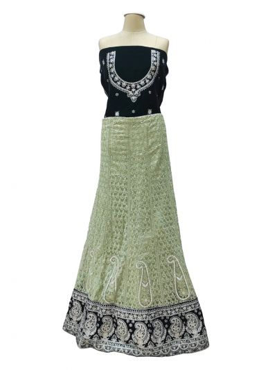 Semi-Stitched Lehenga & Blouse with Dupatta-NHB4608505 -EKM