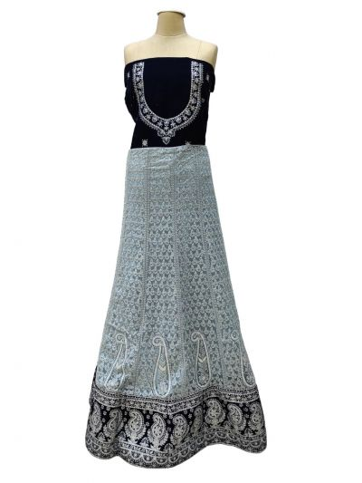 Semi-Stitched Lehenga & Blouse with Dupatta-NHB4608507 -EKM